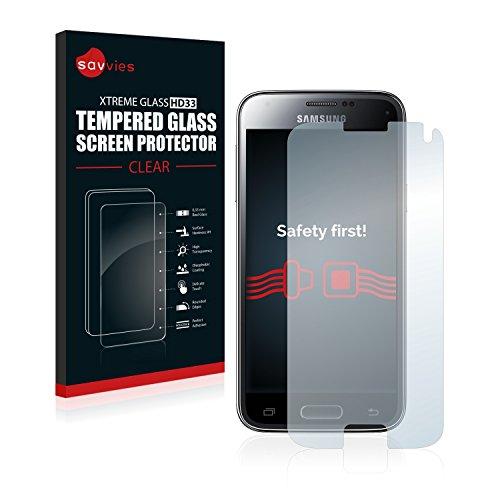 Savvies Panzerglas kompatibel mit Samsung Galaxy S5 Mini - Echtglas Schutzfolie 9H