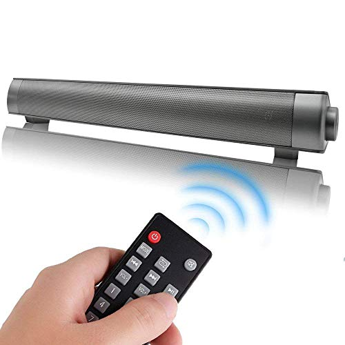 VINCEN Wireless Strip Bluetooth Lautsprecher, Wireless Lautsprecher, 40W High Power, USB, AUX, Stereo Röhren Design, Aluminium Audio, TV Wohnzimmer, Outdoor