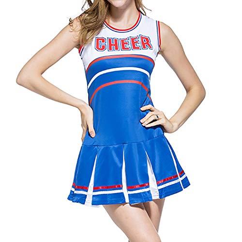 VENI MASEE Sexy Damen Varsity Abitur Cheer Mädchen Cheerleading Uniform Halloween Kostüm