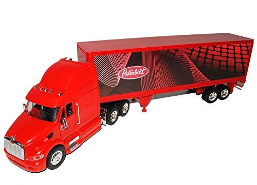 New Ray Sonderposten Peterbilt 387 40\' Container Anhänger Rot Truck LKW 1/32 Modell Auto