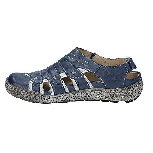Sportif 200690 miccos shoes chaussures pour femme Bleu - jeansblau/weiss