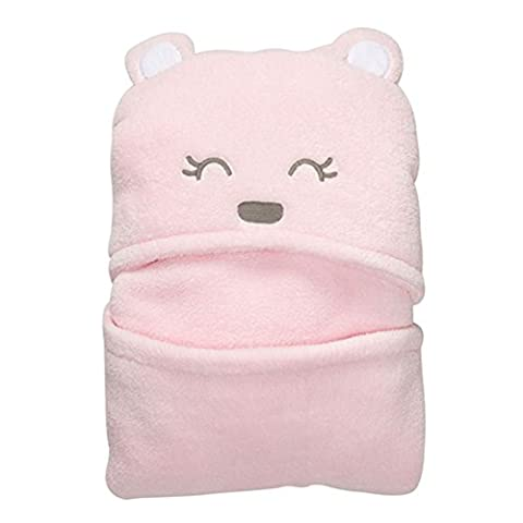 Vine Baby Sleeping Bag Envelope For Newborns Hooded Blanket Coral Fleece Swaddling Bath Towel With Pink