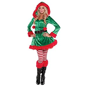 Adult Sassy Sexy Elf Costume Dress size XL/PLUS SIZE