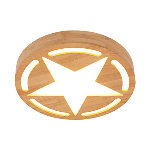 children-bedroom-led-ceiling-semi-embedded-lamps-syaodu-five-pointed-star-rubber-wood-lamp-cover-ac1