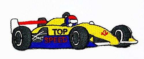 cing Race Exotic Formel 1Retro Cartoon Kids Kinder Cute Animal Patch für Heimwerker-Applikation Eisen auf Patch T Shirt Patch Sew Iron on gesticktes Badge Schild Kostüm (Kids Race Car Kostüme)