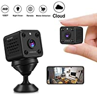 Mini Camera - Cloud CUSFLYX WiFi 1080P HD Camera Wireless Motion Detection IR Night Version Nanny Pet Home Office Garage Security Monitor Sport Camera 150 ° Wide Angle for IOS/Android (2.4G Only)