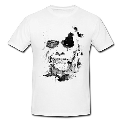 Paul Sinus Art The Joker The Dark Knight T-Shirt Herren, weiß mit Aufdruck -