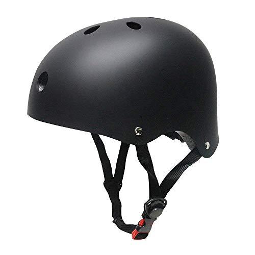 Topfire - Casco deportivo unisex, mate, color negro, tamaño M