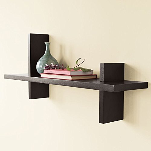 Metal Style Wood Wall Shelf - (22 x 6 x...