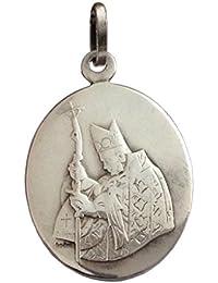 Medalla del Santo Papa Juan Pablo II en plata 925 con el sello papal