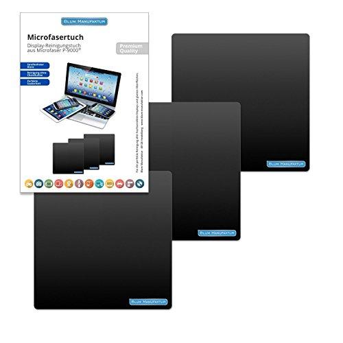 Preisvergleich Produktbild Blum - 3x Display-Reinigungstuch 15x15 cm - für die perfekte Reinigung von Bildschirm | Brille | Computer | Display | iMac | Kamera Objektiv | Laptop | Monitor | Notebook | Smartphone | Sonnenbrille | Spielkonsole | Tablet | TV | VR Brille und mehr.