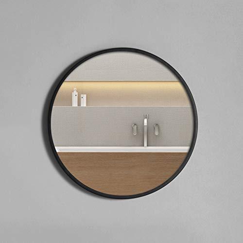 CZY Espejo de Baño Simple Nórdico Inodoro de Moda Hierro Forjado Espejo Redondo Colgante de Pared...