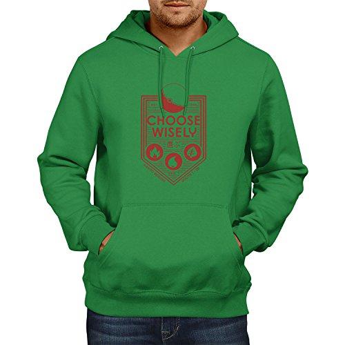 Poke - Herren Kapuzenpullover, Größe M, grün (Grünen Kostüm Ideen Für Tag Des Sports)
