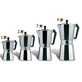 Espresso Top Coffee Maker Stove – Continental Mocha Percolator Pot 1, 2,3.6 (3 Cups)
