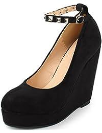 AgeeMi Shoes Femme Escarpin Compensé Femme Plateforme Talon Classique Chaussures