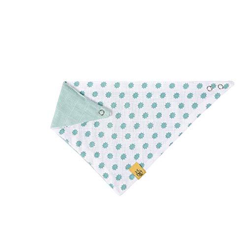 LÄSSIG Baby Kinder Bandana Lätzchen Baumwolle Druckknopf saugfähig doppellagig beidseitig tragbar/Bandana Little Chums Stars - Für Bandana-lätzchen Baby