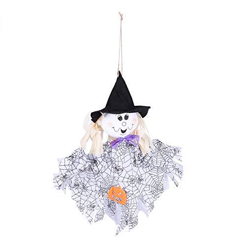 Halloween dekorative Requisiten Puppe Charms, lustige hängende Puppe Dekorationen Festival Feier Ornamente(White)