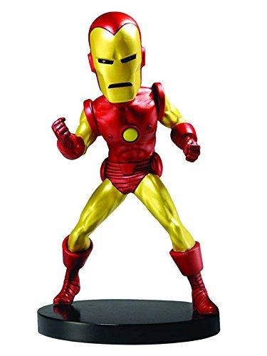 Neca NECA61401 - Marvel Classic Iron Man Extrem Wackelkopf Figur, 20 cm