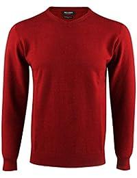 Enzo Herren Langarm Pullover V-Ausschnitt Slim fit Basic Sweater Cashmere  Stil größe… 27fb6331ae