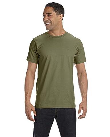 Anvil Herren One-Shoulder T-Shirt XXX-Large Militärgrün