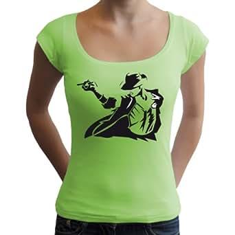King of Pop Damen T-Shirt, mintgrün, XL