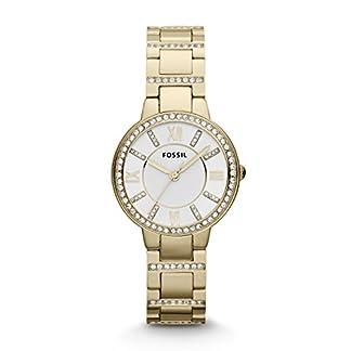 Fossil ES3283 – Reloj de pulsera para Mujer, blanco / oro amarillo