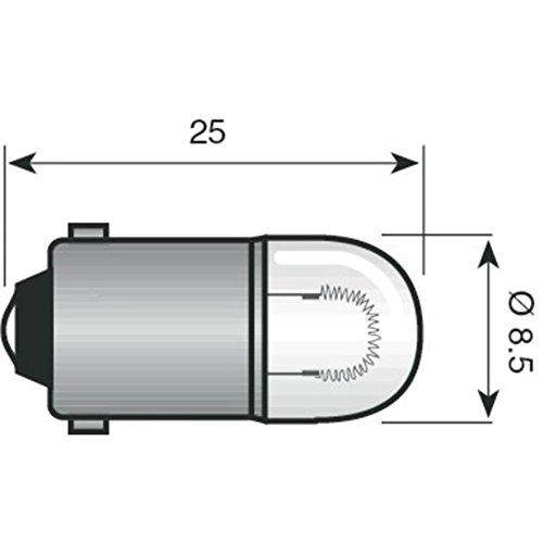 Spahn Standlichtlampe 6-3 Sockel BA9s 6V 3W klar Motorrad