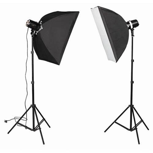 CowboyStudio mono300wkit 600 Watt Photo Studio Monolight Strobe -Blitz Beleuchtung Kit mit 2 Studioblitzleuchte Strobe/2 Softbox -