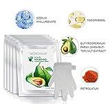 5 paia Maschere Avocado idratante a mano | Guanti idratanti per pelli secche a mano e pelle secca | Nutriente e lenitivo & Whitening | I migliori Natural Skin Care Products Natural Oil completa con