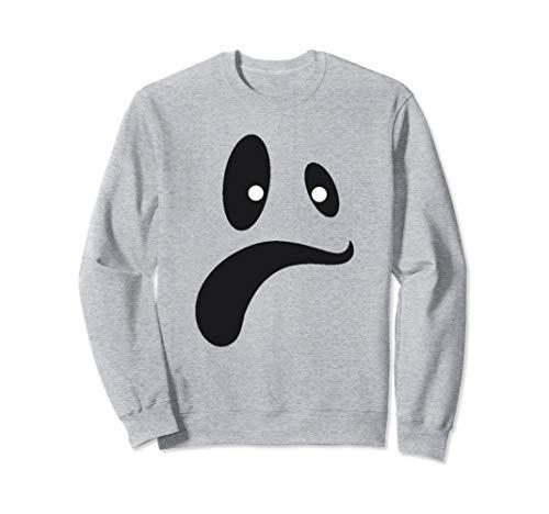 Kostüm Geschnitten Aus Gesicht Geist - Lustiges Geist-Gesichts-Kostüm-Shirt für Halloween Sweatshirt