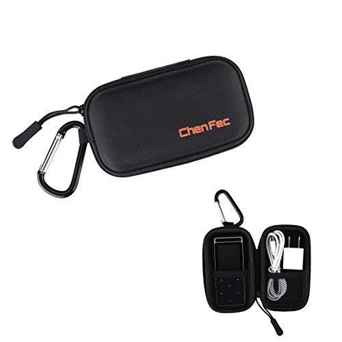 chenfec MP3-Player Schutzhülle Aufbewahrungstasche Tasche MP3-Player Kopfhörer Halter Hard Carrying Case schwarz