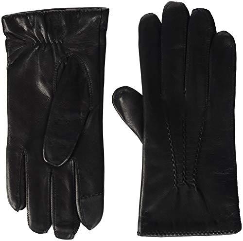 Tommy Hilfiger Herren BASIC LEATHER GLOVES Handschuhe, Schwarz (Black 002), Small (Herstellergröße: S-M)