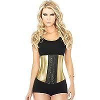 Preisvergleich für Ann Chery 2040 Metallisch Gold Damen Trainieren Taillenmieder Latex Ausbildung Korsett Shapewear Trainer