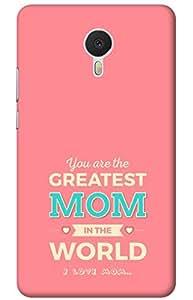 mom Designer Printed Back Case Cover for Meizu M3 Note