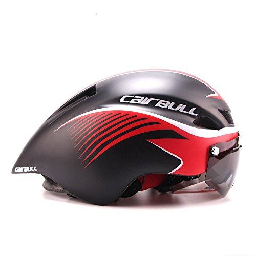 Casque Cairbull 2018 - Unisexe - Pour cyclisme, course à vélo - Avec lunettes réglable de 56à 61cm - Noir M 2