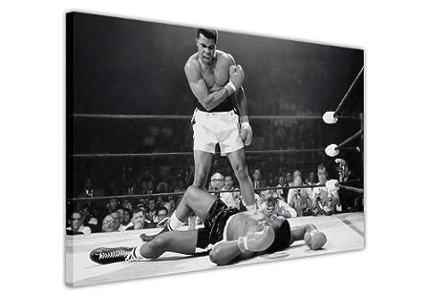 Noir et blanc toile mur Art Photos Legends emblématique Muhammad Ali Knockout KO Imprimé Décoration Chambre Maison Nostalgia Champions de boxe