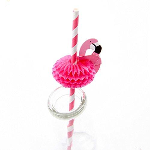 20Stück Flamingo Stroh 3D Stroh Biegsam flexibel Papier Trinkhalme Kinder Geburtstag/Hochzeit/Pool Party Dekoration Supplies
