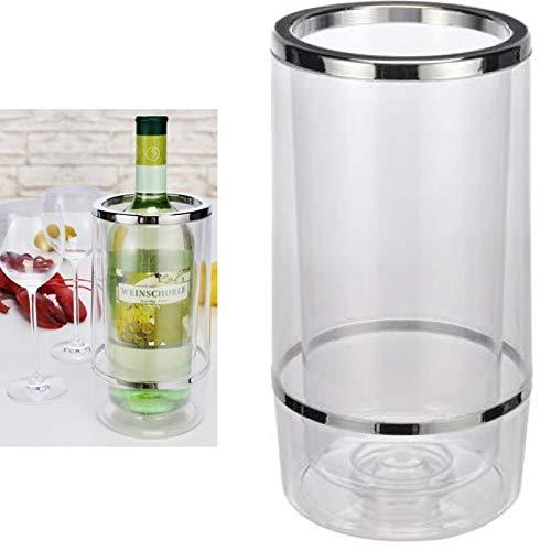 Weinkühler 23cm hoch Flaschenkühler aus Kunststoff doppelwandig Höhe Sektkühler von Smartweb
