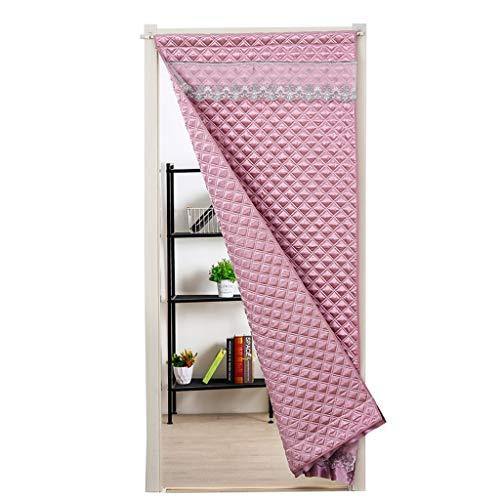JYMC-Vorhänge Haushalt abgeschnitten Vorhang - Windproof Blackout Schallisolierung Baumwolle Türvorhang, genießen Sie kühlen Sommer und warmen Winter