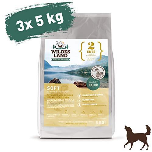 Wildes Land | Halbfeuchtes Trockenfutter für Hunde | Nr. 2 Ente | - Halbfeuchtes Hundefutter