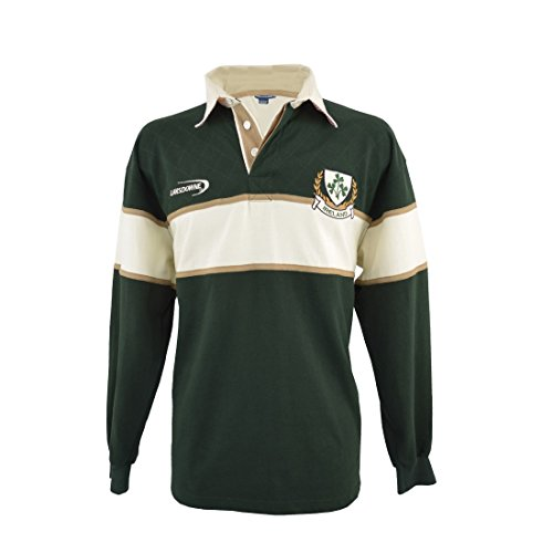 Klee Herren Langarm-Rugby-Shirt (XX-Groß) (Rugby-irland Die Irische)