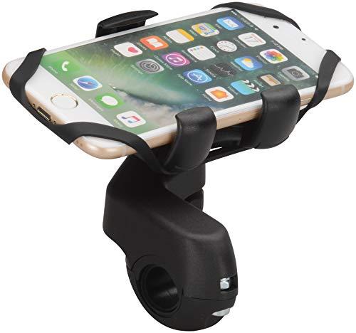 HR GRIP Universal Bike Fahrrad / E-Scooter Mount 13 für die Lenkstange für alle Smartphones & Handys zwischen 58 und 84mm [Made in Germany I 360 Grad drehbar I Spezial Sicherungsband] - 23013111 -