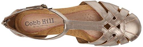 Rockport Cobb Hill Women's Ireland CH Dress Sandal, Pewter, 10 W US Pewter