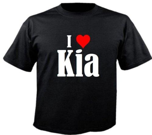 """T-Shirt """"I Love Kia"""" für Damen Herren und Kinder ... in der Farbe Schwarz Schwarz"""