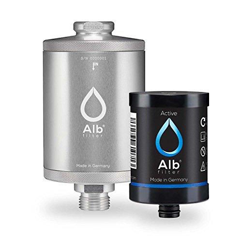 Alb Filter® Active Trinkwasser-Filter reduziert Schadstoffe, Schwermetalle, Mikro-Plastik. Made in Germany Silber -