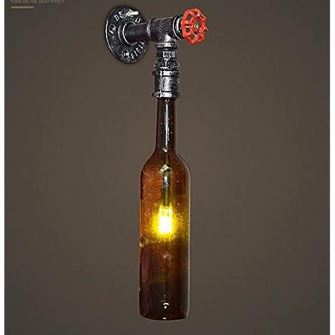 Winson Aria Industriale retrò bottiglia di birra luce da parete della parete del tubo luci personalità creative ristorante decorato in luce camera da letto Studio Cafe