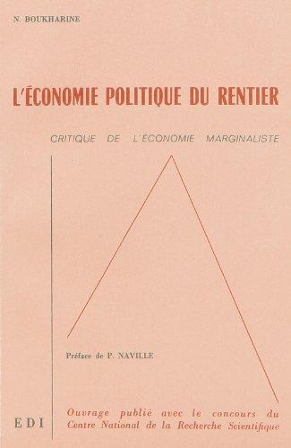 L'économie politique du rentier