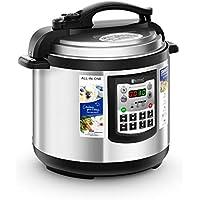 Royal Catering Olla A Presión Eléctrica Robot de Cocina Programable RC-HPC8L (8 L, 1.250 W, Capa antiadherente, Función de mantenimiento de calor, Rango de temperatura 65-75 °C)