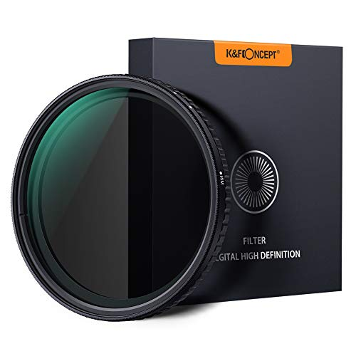 K&F Concept ND Filter 62mm Objektiv Filter Nano Slim Neutral Dichte Graufilter 62mm Variable ND Filter ND8~ND128