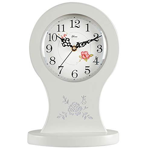 LJF Sencillo Reloj de Sala Creativo Arte Pastoral Reloj Dormitorio de Madera Chino Reloj de Cuarzo IKEA Adornos de Silencio...